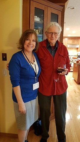 Judy Arnall and Dr. Gray